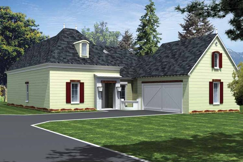Country Exterior - Front Elevation Plan #15-381 - Houseplans.com