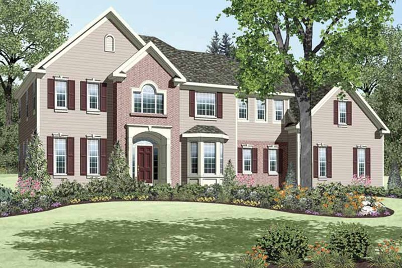 Dream House Plan - Colonial Exterior - Front Elevation Plan #328-450