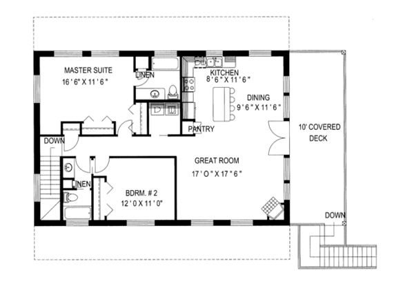 Country Floor Plan - Upper Floor Plan Plan #117-836