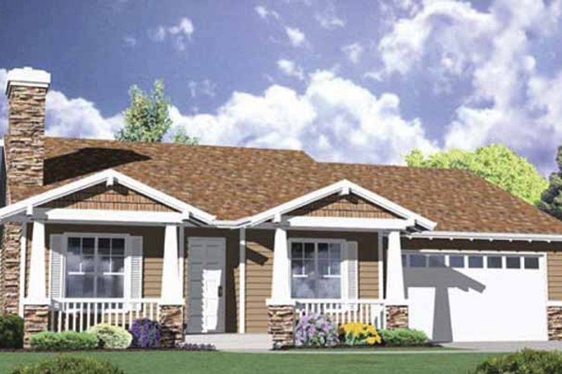 Traditional Exterior - Front Elevation Plan #509-201
