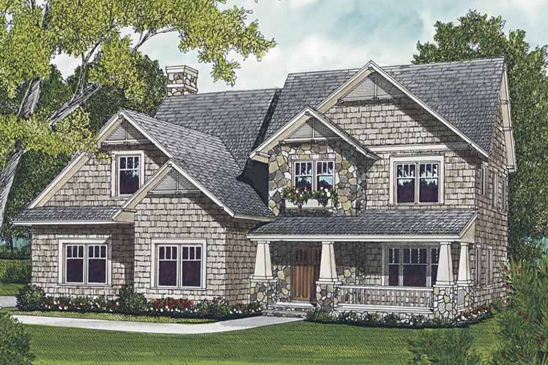 Craftsman Exterior - Front Elevation Plan #453-531