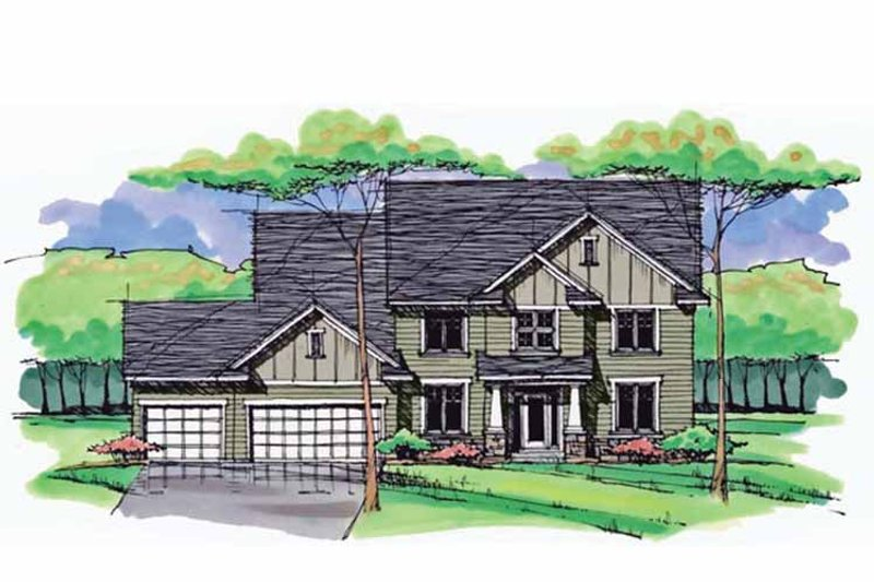 House Plan Design - Colonial Exterior - Front Elevation Plan #51-1029