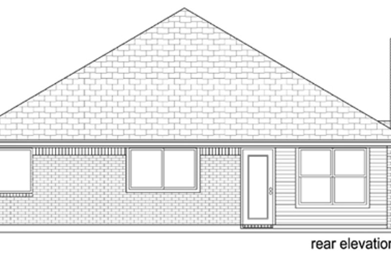 Traditional Exterior - Rear Elevation Plan #84-545 - Houseplans.com