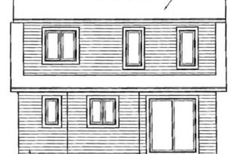 Traditional Exterior - Rear Elevation Plan #23-2092 - Houseplans.com