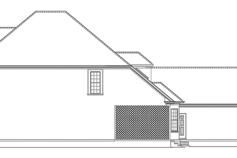 Traditional Exterior - Rear Elevation Plan #17-2899 - Houseplans.com