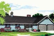 Ranch Exterior - Front Elevation Plan #45-235