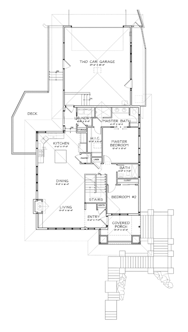 Prairie Floor Plan - Upper Floor Plan Plan #895-78