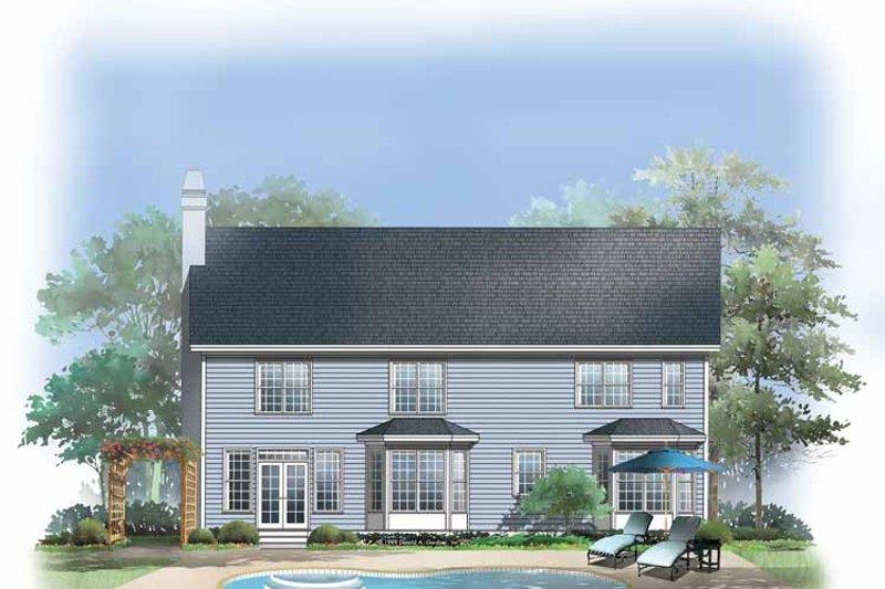 Country Exterior - Rear Elevation Plan #929-435 - Houseplans.com