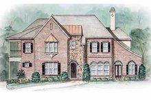 House Plan Design - Tudor Exterior - Front Elevation Plan #54-243