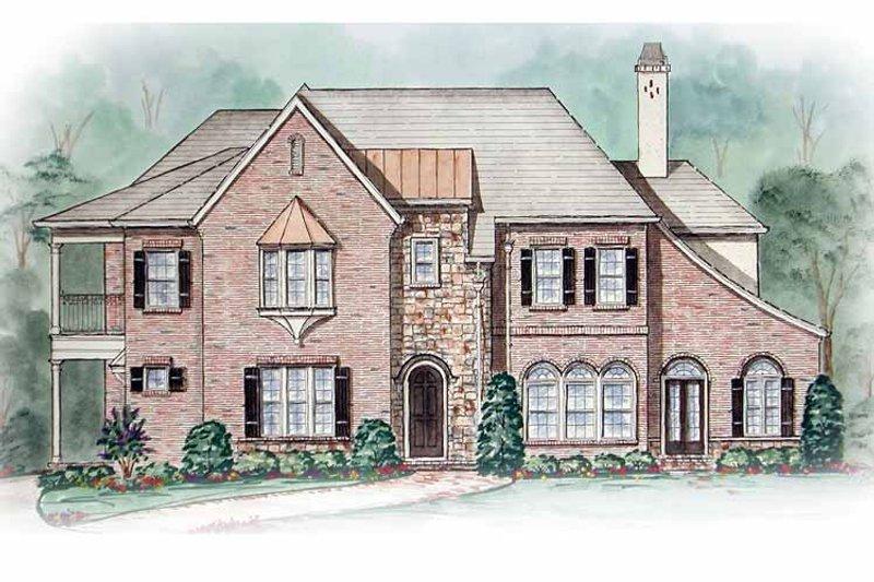 Tudor Exterior - Front Elevation Plan #54-243 - Houseplans.com