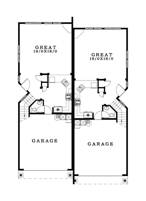 Craftsman Floor Plan - Main Floor Plan Plan #943-37