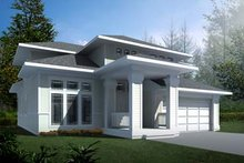 House Plan Design - Prairie Exterior - Front Elevation Plan #94-214