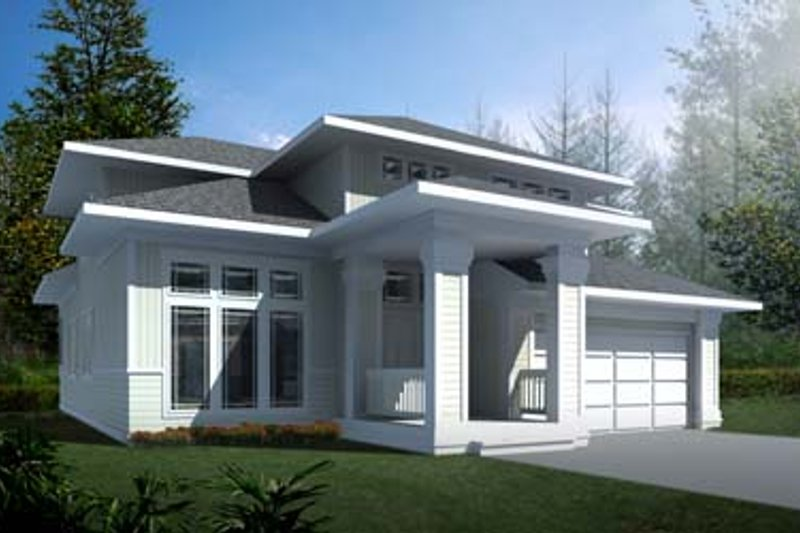 Prairie Exterior - Front Elevation Plan #94-214