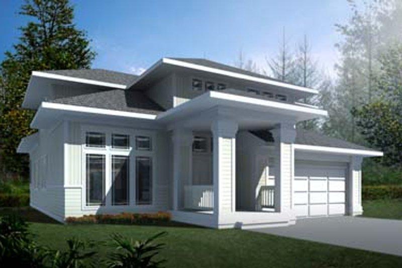 Architectural House Design - Prairie Exterior - Front Elevation Plan #94-214