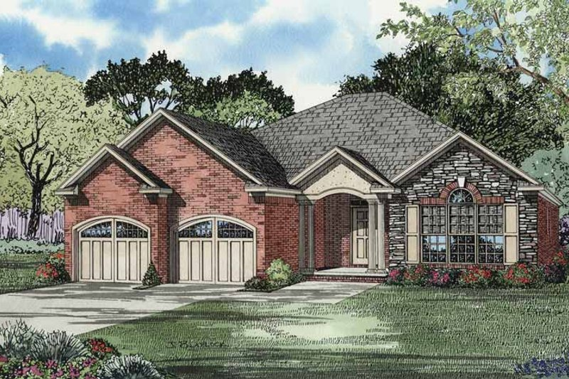 Home Plan - Country Exterior - Front Elevation Plan #17-2944