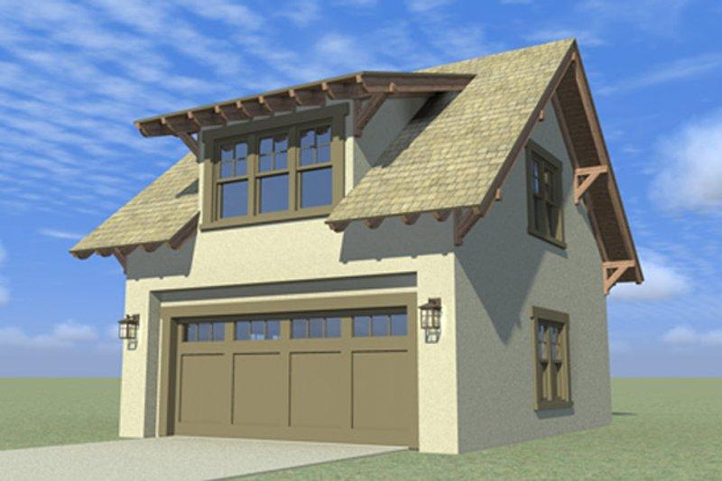 Craftsman Exterior - Front Elevation Plan #64-319