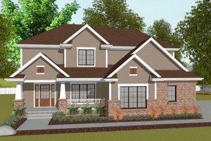 Traditional Exterior - Front Elevation Plan #20-2095