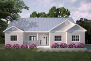 Ranch Style House Plan - 3 Beds 2 Baths 1403 Sq/Ft Plan #18-9547 Exterior - Front Elevation