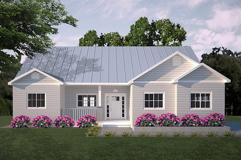 Ranch Exterior - Front Elevation Plan #18-9547