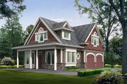 Cottage Style House Plan - 2 Beds 2 Baths 1295 Sq/Ft Plan #132-192 Exterior - Front Elevation