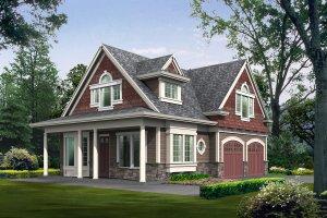 Cottage Exterior - Front Elevation Plan #132-192