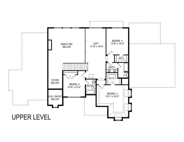 European Floor Plan - Upper Floor Plan Plan #920-107