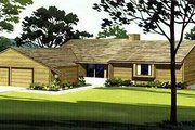 Ranch Style House Plan - 3 Beds 2 Baths 1328 Sq/Ft Plan #320-146 Exterior - Front Elevation