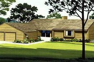 Ranch Exterior - Front Elevation Plan #320-146