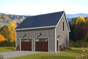 Country Exterior - Front Elevation Plan #932-367
