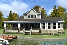 Craftsman Exterior - Rear Elevation Plan #63-424