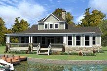 House Plan Design - Craftsman Exterior - Rear Elevation Plan #63-424