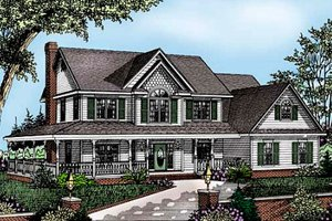 Farmhouse Exterior - Front Elevation Plan #11-214