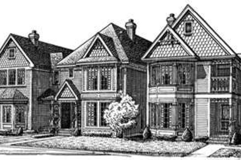 Victorian Exterior - Front Elevation Plan #410-220