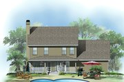 Farmhouse Style House Plan - 3 Beds 2.5 Baths 1792 Sq/Ft Plan #929-241 Exterior - Rear Elevation