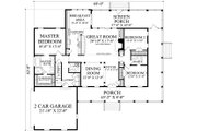 Farmhouse Style House Plan - 3 Beds 2.5 Baths 2010 Sq/Ft Plan #137-376 Floor Plan - Main Floor Plan