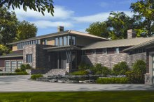 Dream House Plan - Modern Exterior - Front Elevation Plan #48-256
