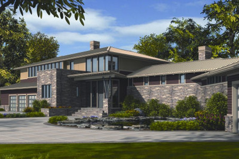 Modern Exterior - Front Elevation Plan #48-256