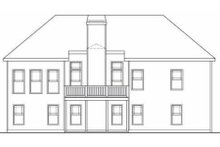 Craftsman Exterior - Rear Elevation Plan #419-114