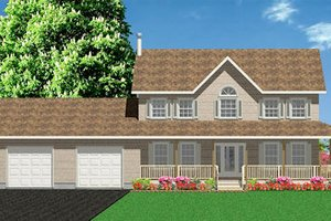 Country Exterior - Front Elevation Plan #414-127