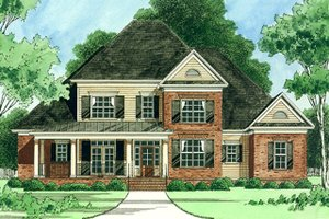 Architectural House Design - Farmhouse Exterior - Front Elevation Plan #1054-26