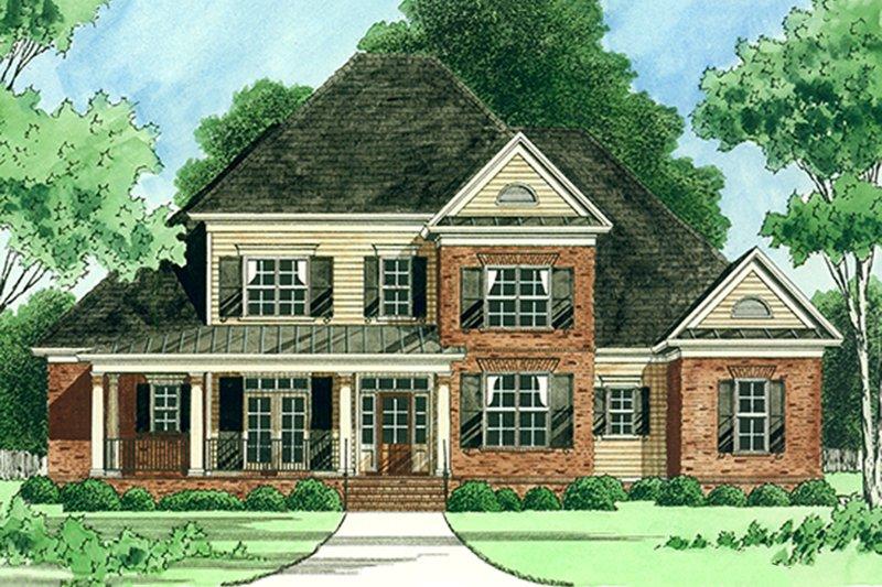 Architectural House Design - Farmhouse Exterior - Front Elevation Plan #1054-26