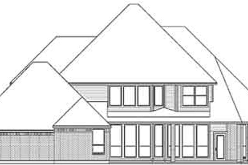 European Exterior - Rear Elevation Plan #84-240 - Houseplans.com