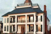 Southern Style House Plan - 3 Beds 3.5 Baths 4252 Sq/Ft Plan #329-317 Exterior - Front Elevation