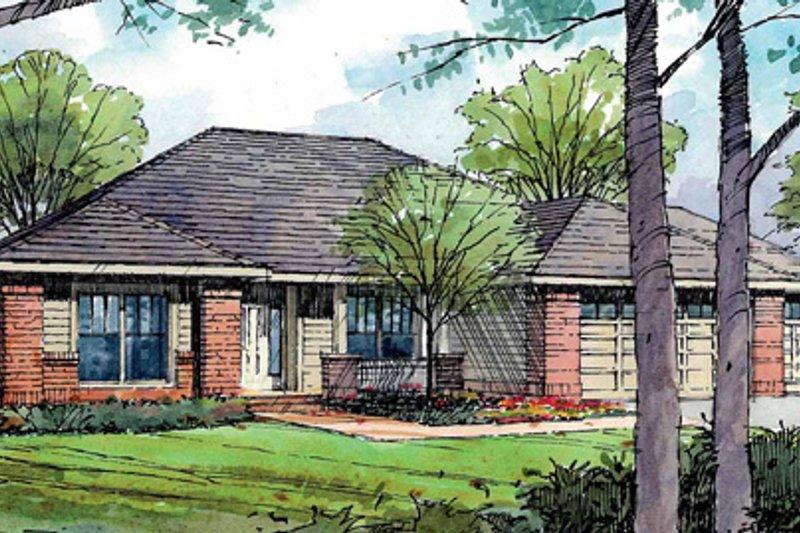 Ranch Exterior - Front Elevation Plan #124-826 - Houseplans.com