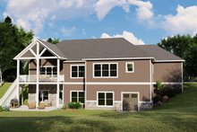 Architectural House Design - Ranch Exterior - Rear Elevation Plan #1064-87