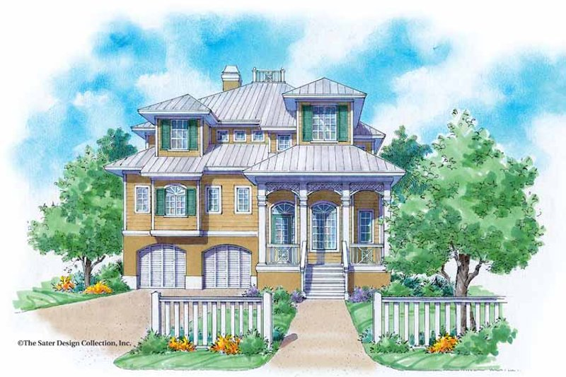 Dream House Plan - Mediterranean Exterior - Front Elevation Plan #930-116