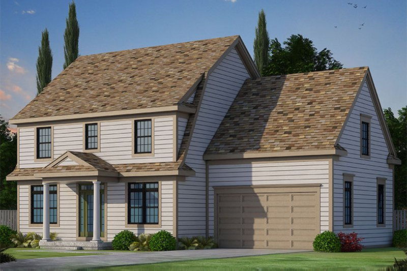Architectural House Design - Colonial Exterior - Front Elevation Plan #20-2249
