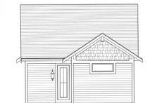 Craftsman Exterior - Rear Elevation Plan #46-842