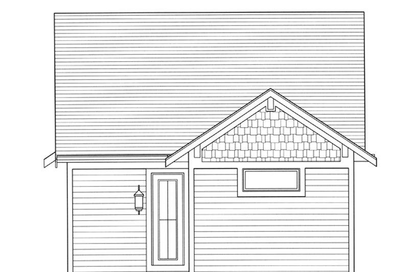 Craftsman Exterior - Rear Elevation Plan #46-842 - Houseplans.com