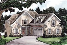 Colonial Exterior - Front Elevation Plan #927-588